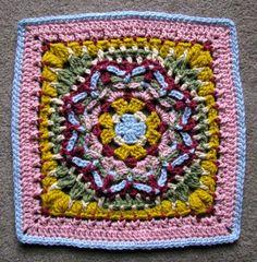 Wishful Thinking Afghan Block Motif By Justina Schneeweis - Free Crochet Pattern - (ravelry) ༺✿Teresa Restegui http://www.pinterest.com/teretegui/✿༻