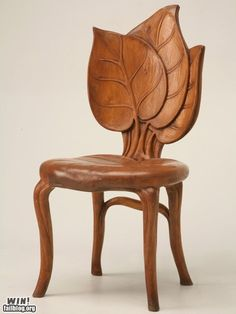 lovely leaf shaped wooden chair!!