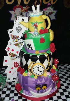 Alice in wonderland, Alice in onderland, handpainted custom candle, birthday candle