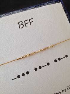 Let your best friend know what she means to you with my Morse Code bracelet. This lovely bracelet features 14k gold filled or sterling silver