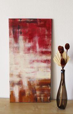 Burgstaller original xxl acryl bilder gem lde handgemalt leinwand rot struktur ebay pinterest - Ubergang wand decke acryl ...