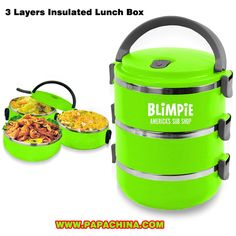 3 Layers Insulated Lunch Box #Manufacturer and Wholesale Supplier from PapaChina. For more info visit www.PapaChina.com http://bit.ly/1Srwv73