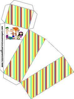 Phineas y Ferb: Cajas para regalo, comida e invitaciones.