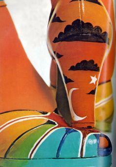 Vogue 1971 rainbow heels