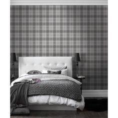 I Love Wallpaper™ Tartan Wallpaper Soft Grey / Charcoal (ILW980026) - Wallpaper from I love wallpaper UK