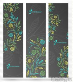 Hand painted flowers shufu background vector