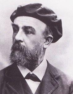 Odilon Redon, photographié en béret, 1894