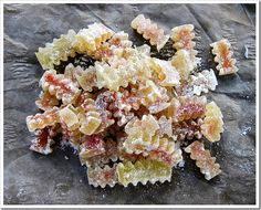 Candied Watermelon Rind. Watermelon rind candy. Most soviet cakes, like Kiev cake, are often decorated with candied watermelon rinds. So, this is crunchy, sweet-n-sour things with a special taste. #watermelonrindcandy #candied- watermelon-rind