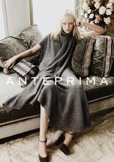 Marjan Jonkman Pose for Anteprima Fall Winter 2015 Campaign Photoshoot