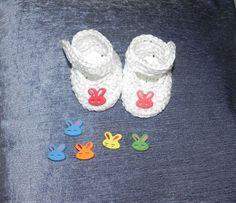 SCARPINE scarpette bebè  cotone 100%   realizzazione uncinetto