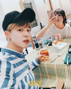 gfriend #bts #bangchin… South Korean Girls, Korean Girl Groups, Gfriend And Bts, Jimin Fanart, Bts Girl, Kpop Couples, My Youth, Bts Photo, Mochi