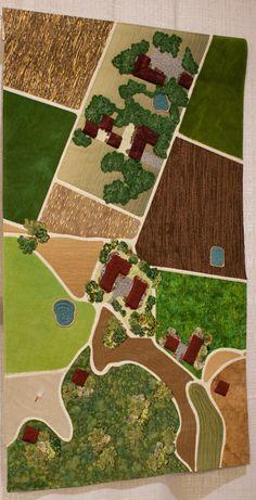Los Alamos Aerial View by Isabel Downs.  2012 Santa Barbara Modern Quilt Guild
