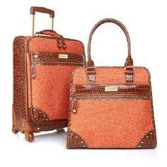 "Samantha Brown Tweed 21"" Upright & Shopper Tote ~ SAMANTHA BROWN 2-piece Travel Set - TANGERINE Samantha Brown http://www.amazon.com/dp/B00FKB678I/ref=cm_sw_r_pi_dp_hAjIub1B0F3X9"