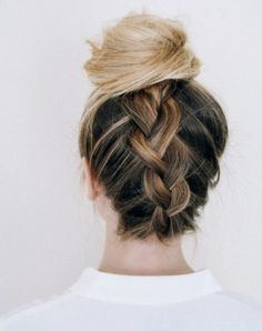 ¿Cómo hacer un braided top knot? #Cabello #Hair #HairStyle