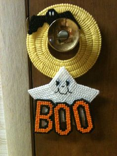 Plastic Canvas Ghost Doorknob Hanger by Cathygiftsandthings, $6.00
