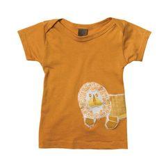 Organic Short Sleeve Tee: Orange Lion. $21 at www.mybabypeanut.com.