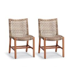 Isola Side Chair in Natural Finish, Set of Two