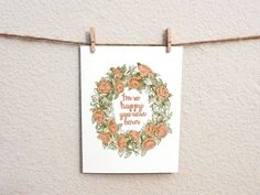 I'm So Happy You Were Born 100 Recycled Greeting by WanderDesign, $3.00