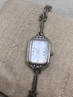 Sterling Silver Jasco Time Marcasite Watch 7 1/2 20-22