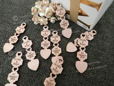 Laser Craft Party Table Decorations Home, Furniture & DIY Cabin Crafts, Love Spoons, Wedding Favours, Wedding Ideas, Wedding Stuff, Party Table Decorations, Craft Party, Dog Tag Necklace, Favors