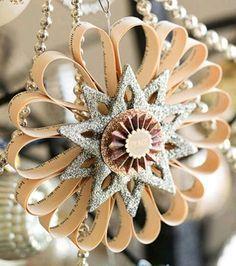 más y más manualidades: Crea hermosos adornos navideños con tubos de cartón