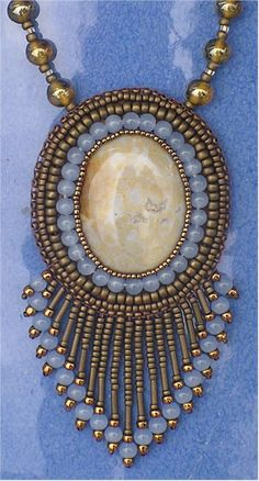 Bead Embroidery Jewelry | The Bronze Bead - Beaded Jewelery - necklace earrings