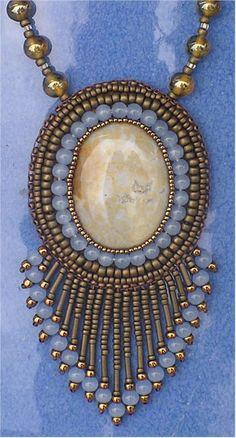Bead Embroidery Jewelry | The Bronze Bead - Beaded Jewelery - necklace earrings