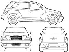 Chrysler PT Cruiser. Chrysler Pt Cruiser, Chrysler Cars, Coloring Books, Coloring Pages, Rockabilly Wedding, Car Drawings, Product Launch, Vehicles, Campers