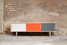 Enfilade meuble tv esprit vintage – Création Gentlemen Designers – 1200 €