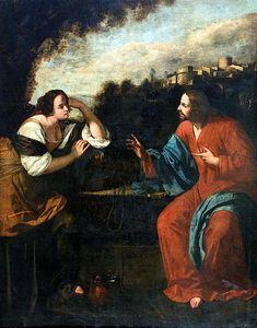398. Gentileschi, Artemisia - Cristo e la samaritana al pozzo - 1637 ca. - Napoli, Museo di Capodimonte