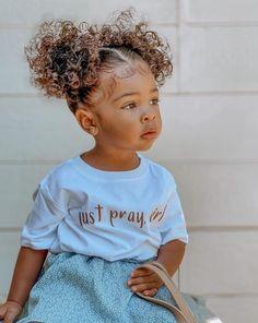 Cute Mixed Babies, Cute Black Babies, Beautiful Black Babies, Cute Babies, Kids Curly Hairstyles, Baby Girl Hairstyles, Mix Baby Girl, Cute Baby Girl, Baby Girls