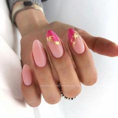Classy Nails, Stylish Nails, Simple Nails, Cute Acrylic Nails, Cute Nails, Pretty Nails, Pink Nail Art, Oval Nails, Oval Nail Art