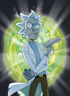 Rick Sanchez [Rick and Morty] by Nyarlah