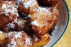 Recipes from Walt Disney World! Zeppole di Ricotta from Via Napoli, Italy Pavilion, Epcot. These fritters are cheesecake-meets-donut in what could be the perfect treat.    Did I mention they're fast to make and have no hard-to-find ingredients?