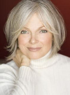 beautiful silver blonde-gorgeous....Maybe I should let my white hair grow out! If I could look like this I might