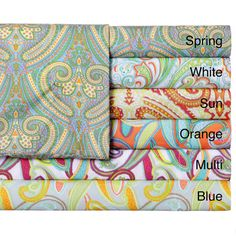 Expressions Paisley Printed Easy Care Sheet Set - Overstock™ Shopping - Great Deals on Sheets