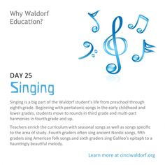 """""""Singing"""" Things We Love About Waldorf Education"""