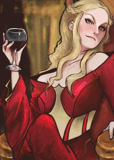 this has been sitting in my computer begging 2 be finished for a couple months so huzzah cersei is bae nobody else can tell me otherwise pose stock by t. more wine kthx Valar Dohaeris, Valar Morghulis, Cersei Lanister, George Rr Martin, Game Of Thrones Art, Winter Is Coming, Medieval, Nerd, Geek Stuff