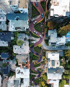 Lombard Street by laidea #sanfrancisco #sf #bayarea #alwayssf #goldengatebridge #goldengate #alcatraz #california