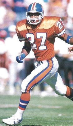 Steve Atwater As of the Broncos Ring of Honor member has been nominated twice for the Hall of Fame. Nfl Broncos, Nfl Football Players, Football S, Denver Broncos, American Football, College Football, Football Helmets, Bronco Car, Nfl Hall Of Fame