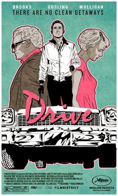 Drive é um filme de 2011 dirigido pelo dinamarquês Nicolas Winding Refn e estrelado por Ryan Gosling, Carey Mulligan, Bryan Cranston.