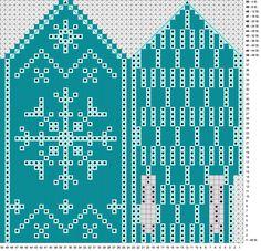 Snøkrystallvott Knitted Mittens Pattern, Crochet Mittens, Knitted Gloves, Knitting Charts, Knitting Stitches, Hand Knitting, Knitting Patterns, Scandinavian Pattern, Chart Design