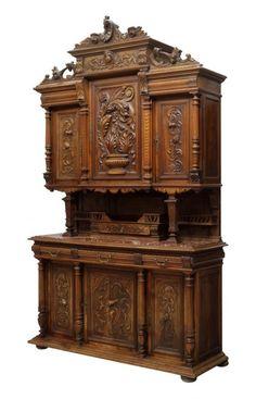 7258 Renaissance Revival Rosewood Music Cabinet : Lot 1281
