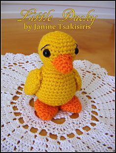 Little Baby Ducky - free crochet pattern by Janine Tsakisiris. Rated beginner.