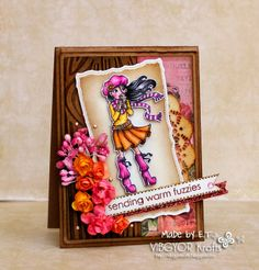 used Mayzy Art Shawna with Latte digi stamp, #Heroarts, #Fabercastell colour pencils, #Prima romance novel papers, #Spellbinder #CLD #cheerylynndesigns