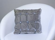 Decorative pillow cover with silver sparkling by ThePillowWorld