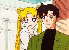 Sailor moon - Serena and Darien/ Usagi and Mamoru Arte Sailor Moon, Sailor Moon Usagi, Sailor Jupiter, Sailor Mars, Sailor Moon Fanfiction, Sailor Moon Screencaps, Manga Anime, Old Anime, Sailor Moon Aesthetic