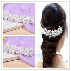 Vintage Wedding Bridal Pearl Headpiece Hair Accessories Headband Crown Tiara Beaded Jewelry Prom Fashion Hair Band Headdress Silver Bobby Pins Online Bridal Chic From Weddinghelper, $5.53  Dhgate.Com