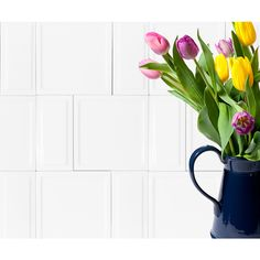 Shop Interceramic Up and Down White Ceramic Wall Tile (Common: 3-in x 6-in; Actual: 6-in x 2.95-in) at Lowes.com