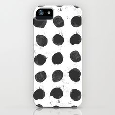 iPhone Case // black and white // dots // hand painted